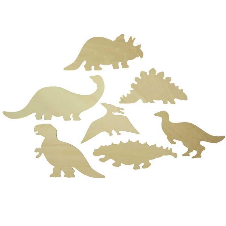 Bigjigs Toys obkreslovací vzory - Obrázky dinosaurů