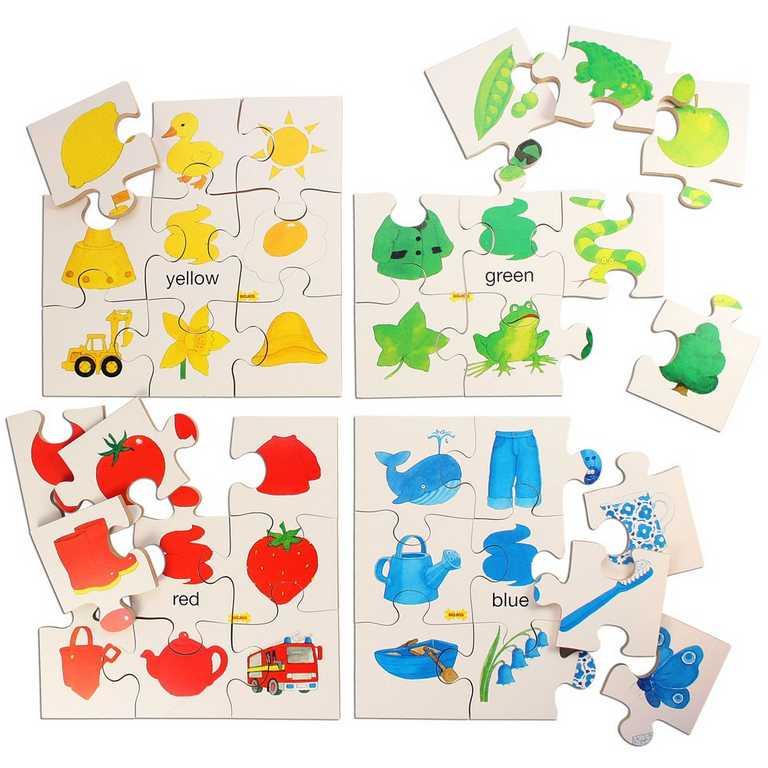 Dřevěná didaktická hračka - Puzzle barvy