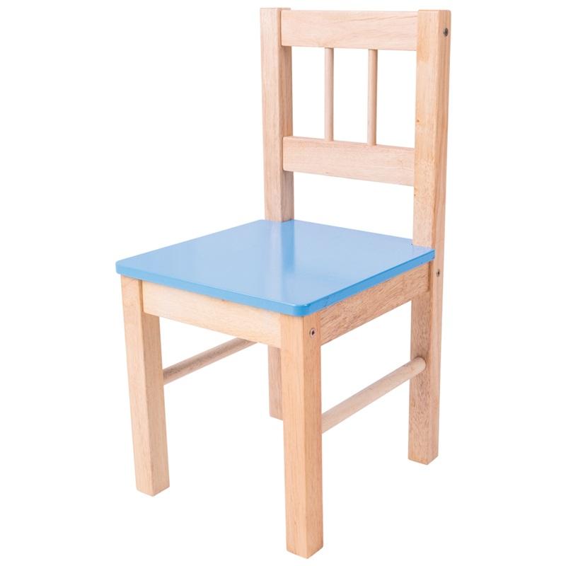 Bigjigs Toys - Dřevěná židle modrá