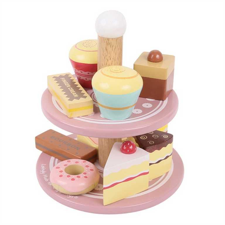 Bigjigs Toys dřevěné potraviny - Stojan se sladkostma