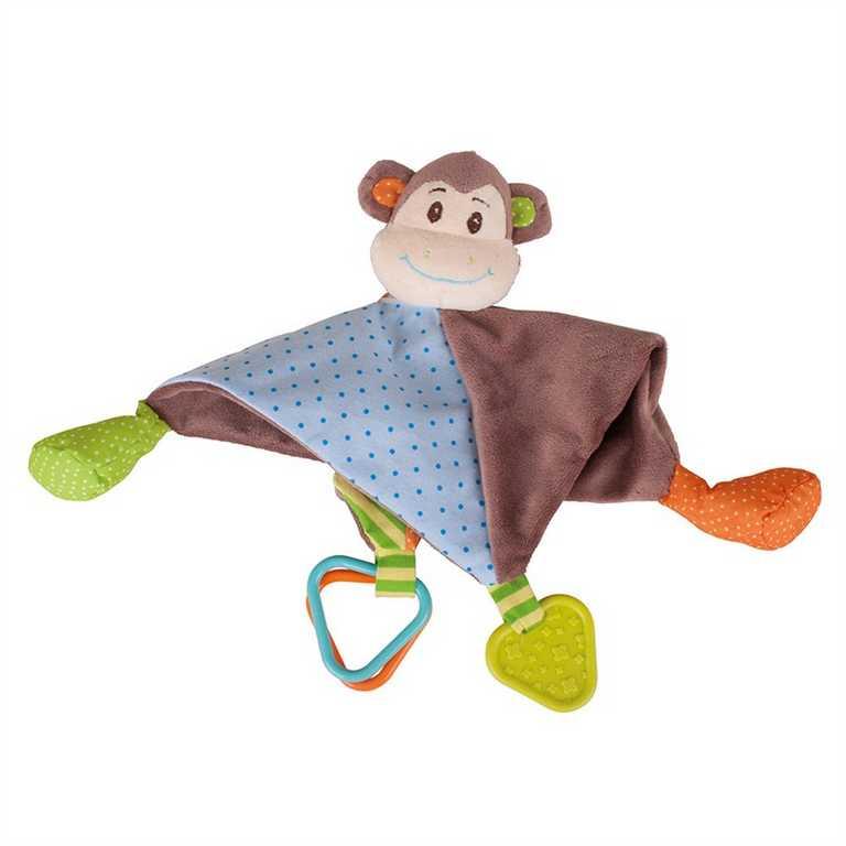 Bigjigs Toys textilní muchlánek - Opička Cheeky