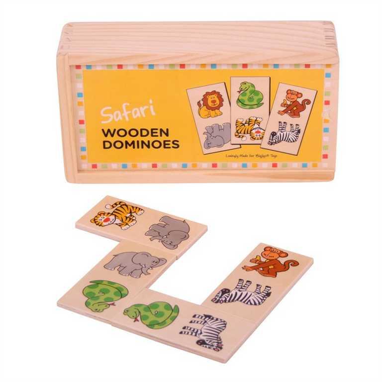 Bigjigs - dřevěné domino - Safari
