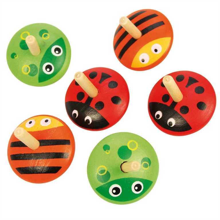 Bigjigs Toys - Drevené zvieratka točiace