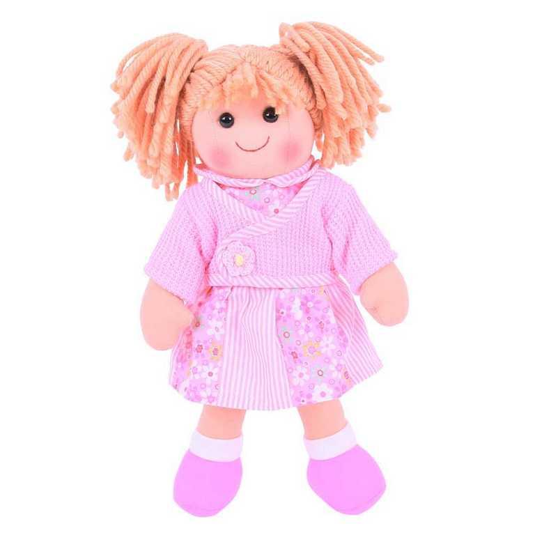 Bigjigs Toys látková panenka Abigail 34 cm