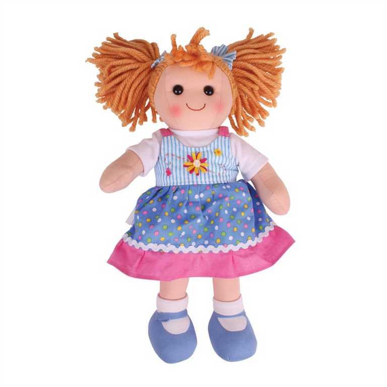 Bigjigs Toys látková panenka Ellie 40 cm
