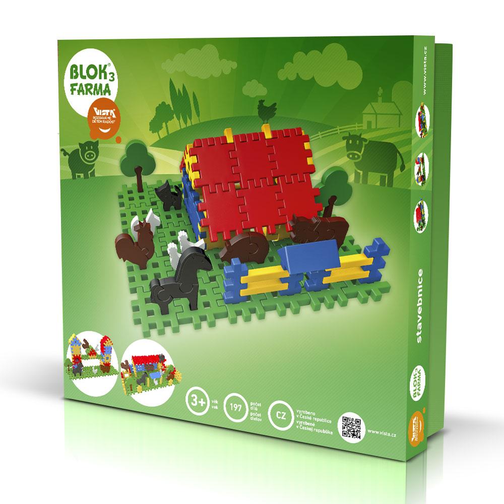 Stavebnice - Blok 3 Farma