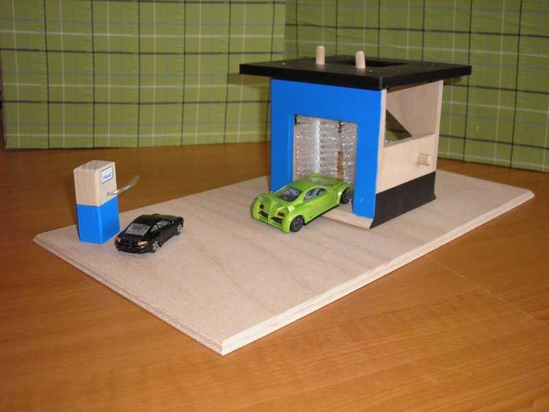 Dřevěná myčka pro auta