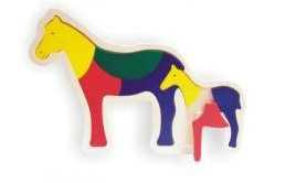 Dřevěné hračky - Vkládací puzzle - Vkládačka - Koníci