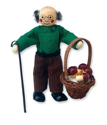 Dřevěné hračky - Panenka do domečku dědeček