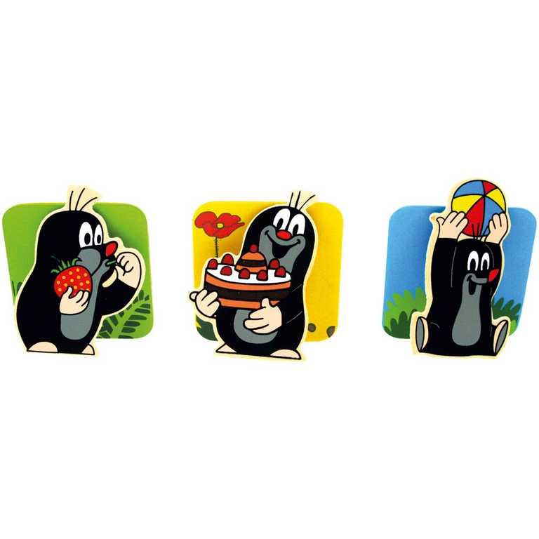 Dřevěné hračky - Magnetické úchytky - Krtek a zvířátka