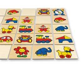 Dřevěné hračky - dřevěné hry - Pexeso obrázky