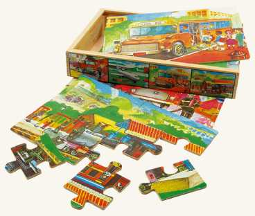 Bino Puzzle v krabičke Doprava