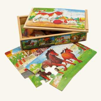 Bino Puzzle v krabičke - zvieratká
