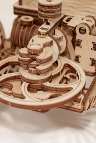 Wood Trick 3D mechanické puzzle - Historický koč