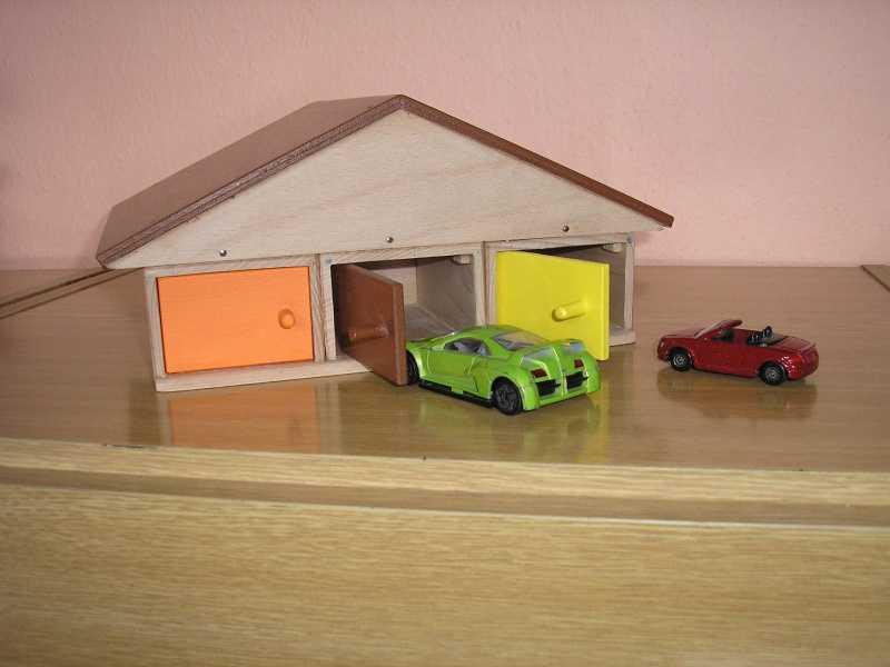 Dřevěná garáž pro 6 aut