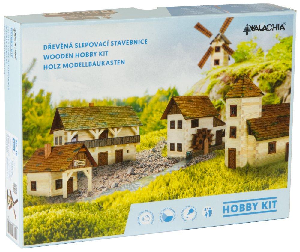 Walachia drevená zlepovacia stavebnica Alpský dom
