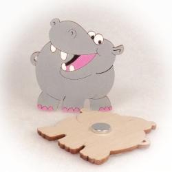 Dřevěné magnetky - Hroch
