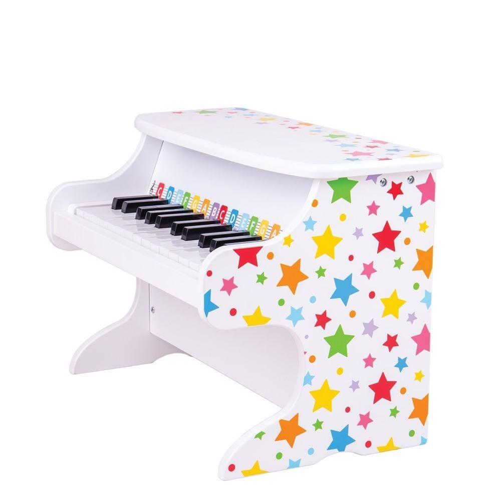 Bigjigs Toys Drevený klavír hviezdičky