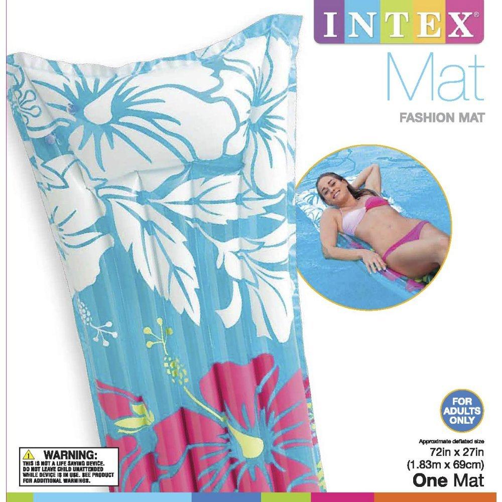 Intex Průhledná matrace bílá s potiskem 183x69cm 59720