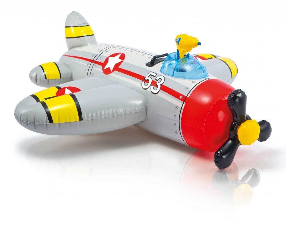 Intex Vodní vozidlo letadlo šedé 57537