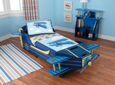 KidKraft dřevěná dětská postel letadlo - poškozený obal