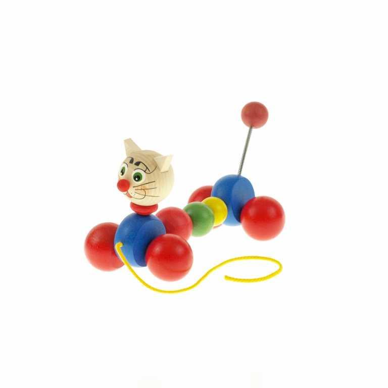 Dřevěná tahací hračka - Kočka