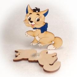 Dřevěné magnetky - Kočka Mína