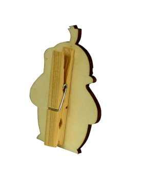 Veselý kolíček s dekorací - Zajíc