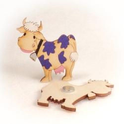 Dřevěné magnetky - Kravička