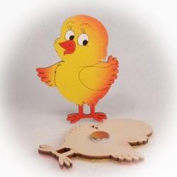Dřevěné magnetky - Kuřátko