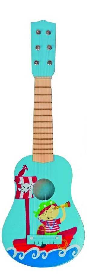 Dřevěné hračky Woody - Dětské nástroje - Kytara - Piráti