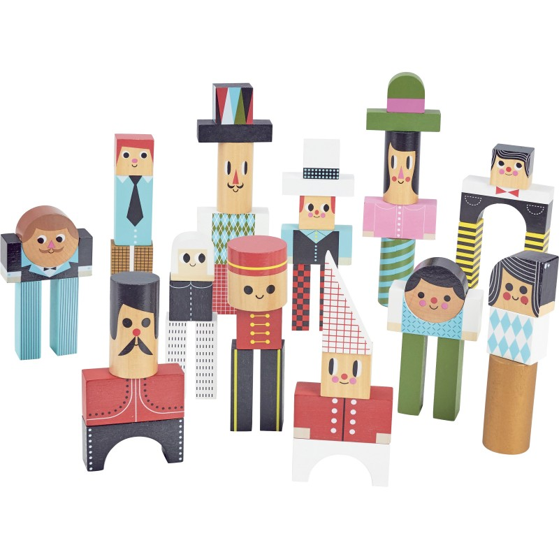 Vilac - Dřevěné kostky postavičky