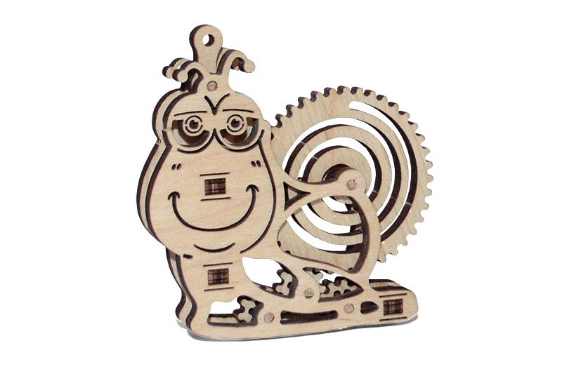 Wood Trick 3D mechanické puzzle - Slimák
