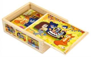 Bino kocky Pani Krtková v krabičke 12 kusov