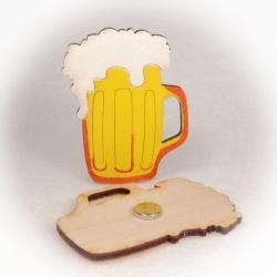 Dřevěné magnetky - Pivo