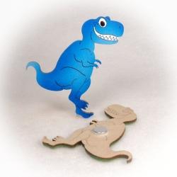 Dřevěné magnetky - Tyranosaurus