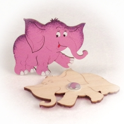 Dřevěné magnetky - Slon