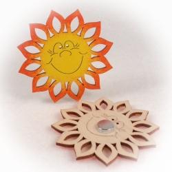 Dřevěné magnetky - Sluníčko Fridolín