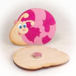 Dřevěné magnetky - Šnek