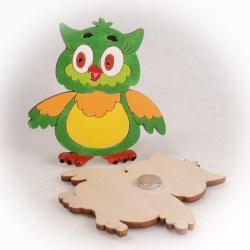 Dřevěné magnetky - Sovička