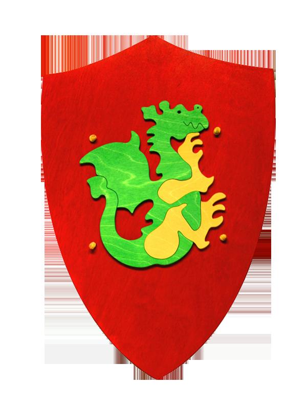 Fauna- Dřevěný štít s drakem