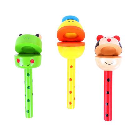 Bigjigs Toys kaskaněty na tyčce zvířátka 1ks červená