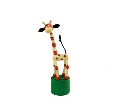 Detoa Mačkací figurka Žirafa přírodní