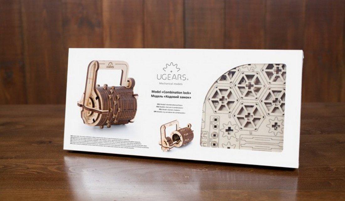 Ugears Drevená stavebnica 3D mechanické Puzzle Zámok