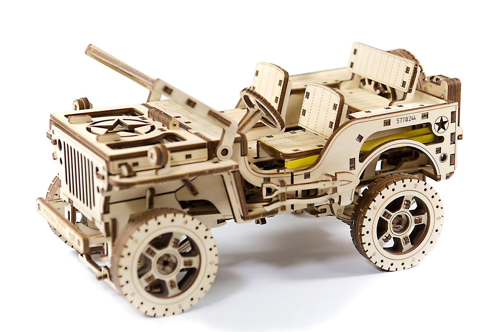 Wooden City 3D mechanické puzzle - Jeep 4x4