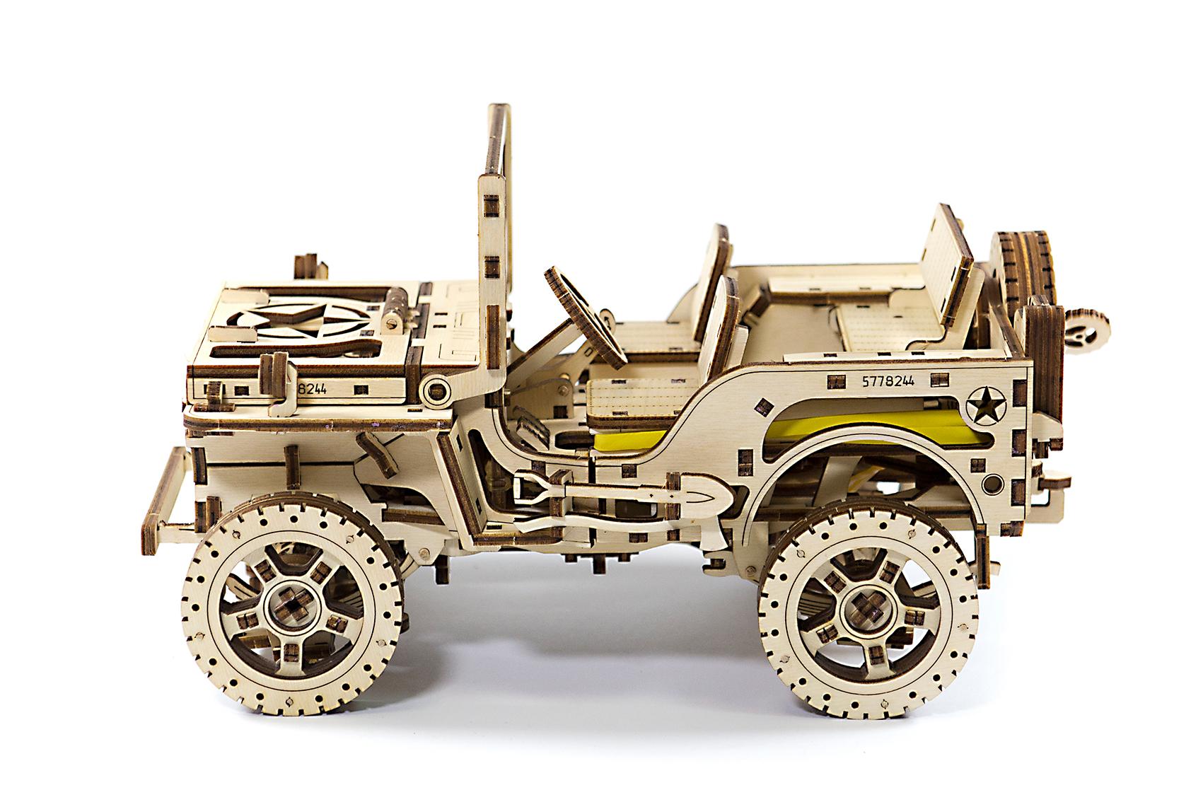 Wooden City 3D mechanické puzzle - Jeep 4x4