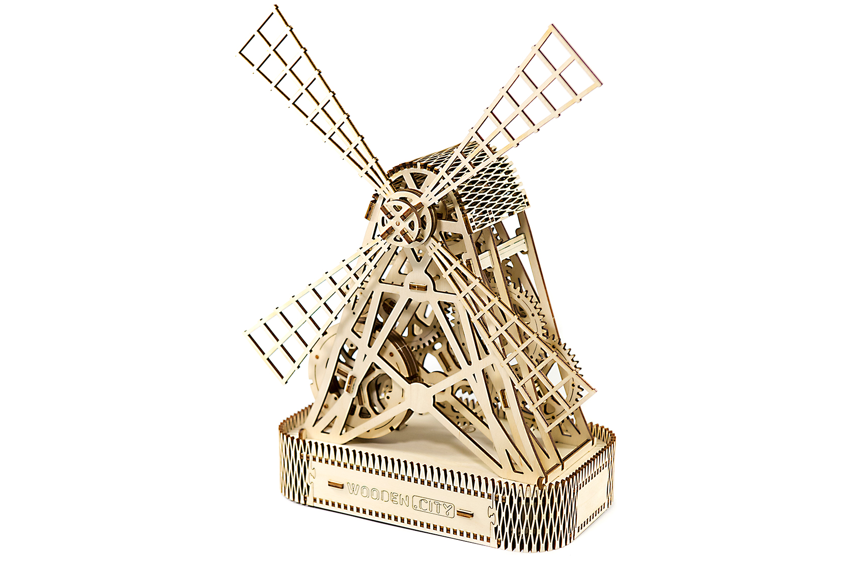 Wooden City 3D mechanické puzzle - Mlyn