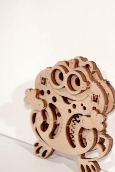 Wood Trick 3D mechanické puzzle - Žaba