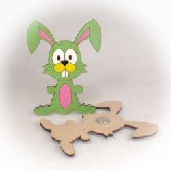 Dřevěné magnetky - Zajíček