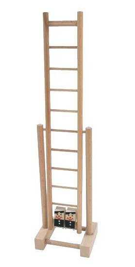 Dřevěné hračky - Závodící kominíci na žebříku